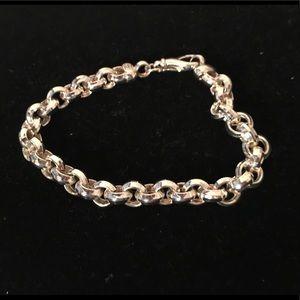 Jewelry - Sterling diamond cut rolo bracelet